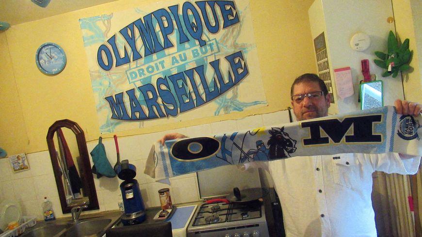 Dominique, supporter ardennais de l'Olympique de Marseille