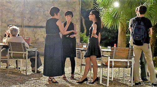 La compositrice Noriko Baba et les musiciens à Villa Romana, Florence