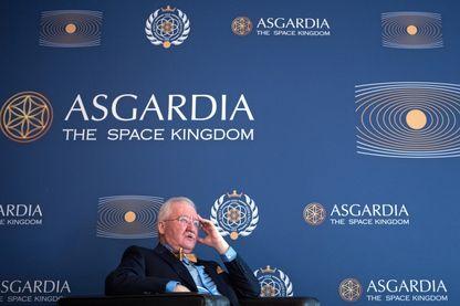 """Igor Ashurbeyli, auto-proclamé premier chef d'État de la """"nation spatiale"""" Asgardia, le 25 juin 2018."""