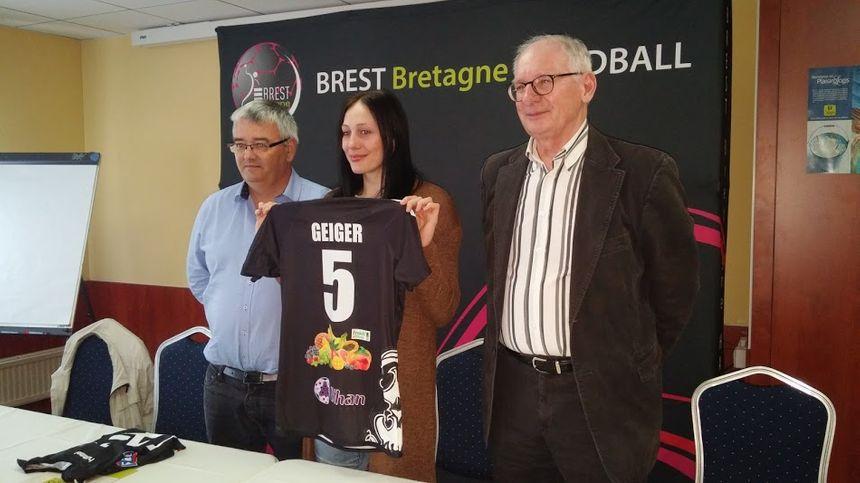 Mélinda Geiger, à son arrivée à Brest en 2016