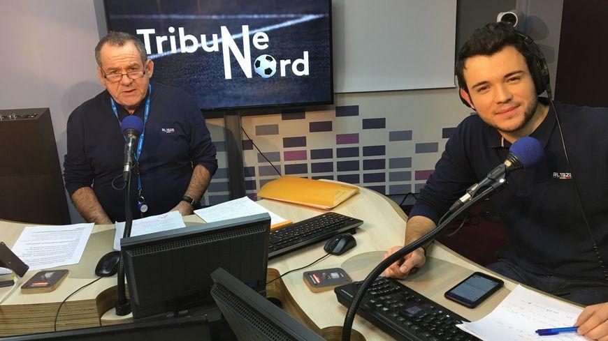 Christian Palka et Maxime Lictevout animent la nouvelle émission de foot commune de France Bleu Nord et France 3 Hauts-de-France