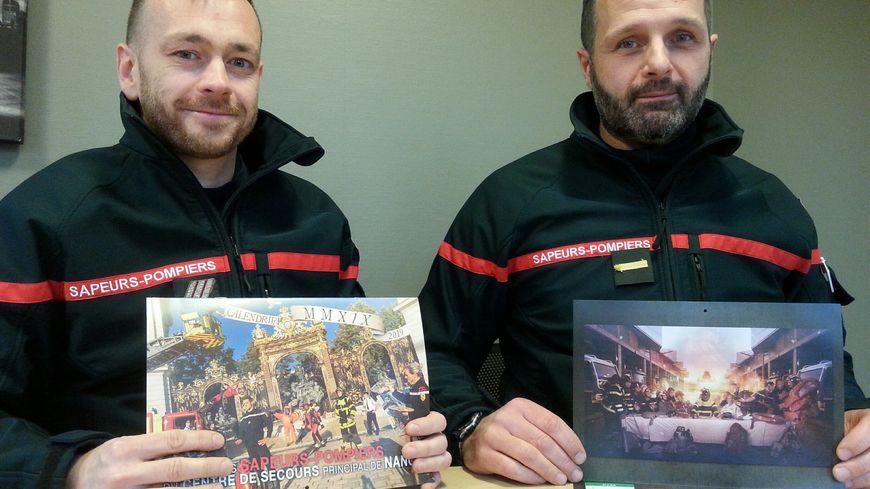 Jonathan Magnier et Arnaud Ventrella, tous deux membres du bureau de l'Amicale des pompiers de Nancy
