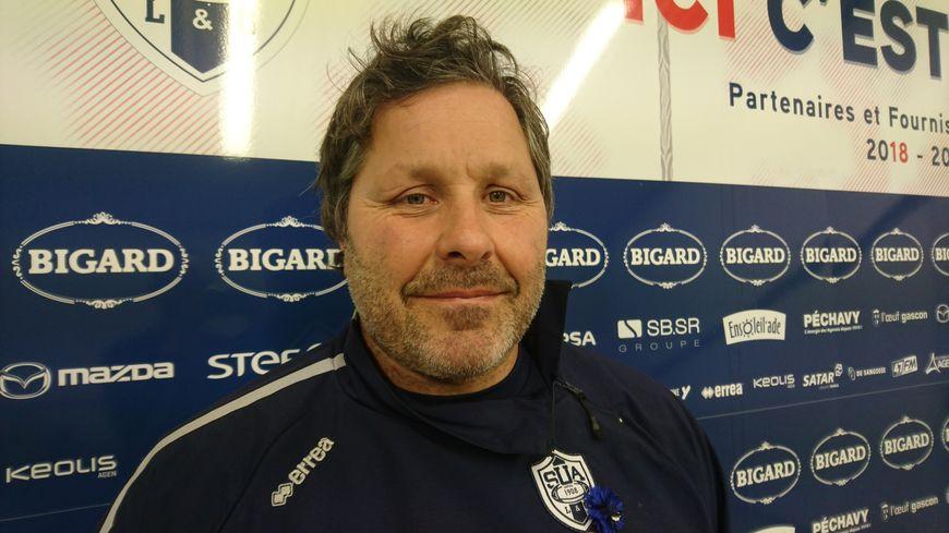 Mauricio Reggiardo, dans les couloirs du stade Armandie, à Agen