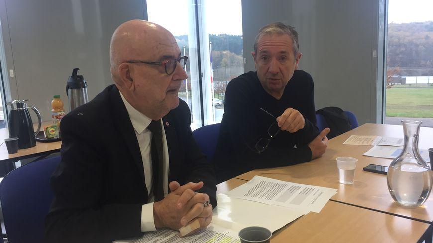 Christophe Fauvel, le patron de la CCI et Jean-Pierre Cubertafon, député MODEM unis pour défendre l'élargissement de la RN21