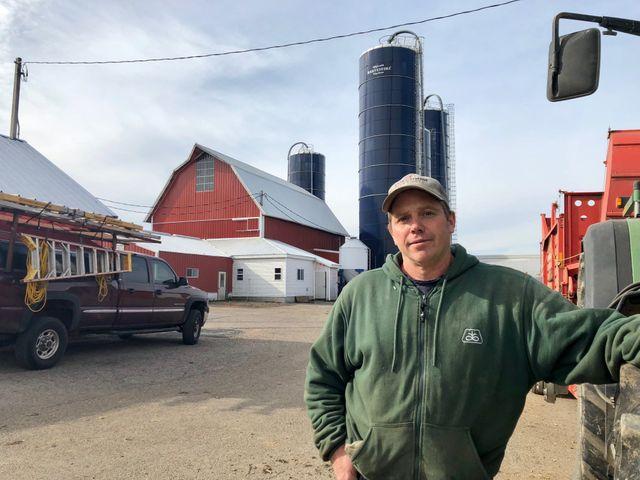Laverne, agriculteur à Prairie du Sac, Wisconsin