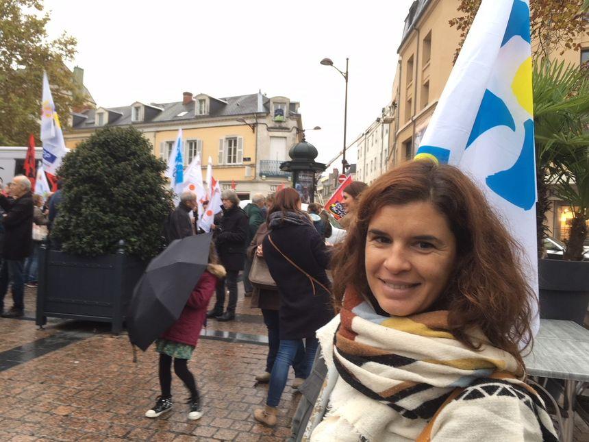 Mayline Lemaire, co-secrétaire du Snuipp dans l'Indre et enseignantes à l'école des marins à Châteauroux