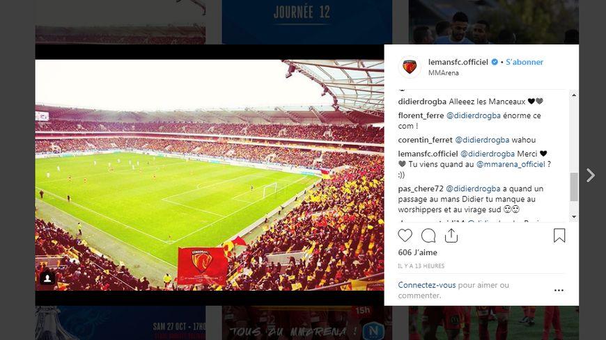 Sur le compte Instagram du Mans FC, un certain... Didier Drogba encourage les Sang et or avant le derby face à Laval. Alors à quand un retour de l'ancien international ivoirien au MMArena ?