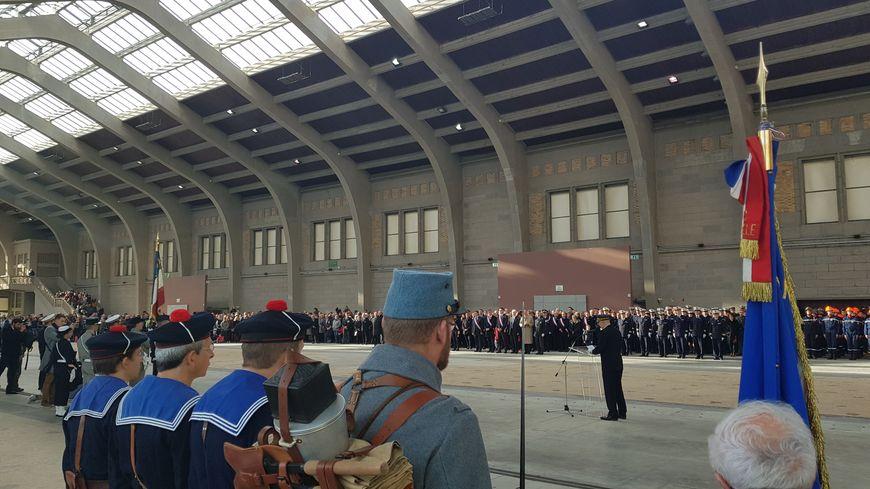 Cherbourg : revivez en images la cérémonie du centenaire du 11 novembre à la Cité de la Mer