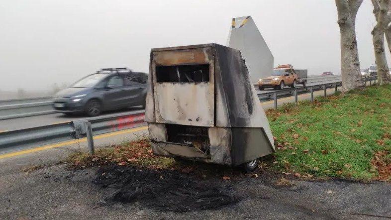 Le radar chantier de la N532 entre Romans-sur-Isère et Valence a été incendié