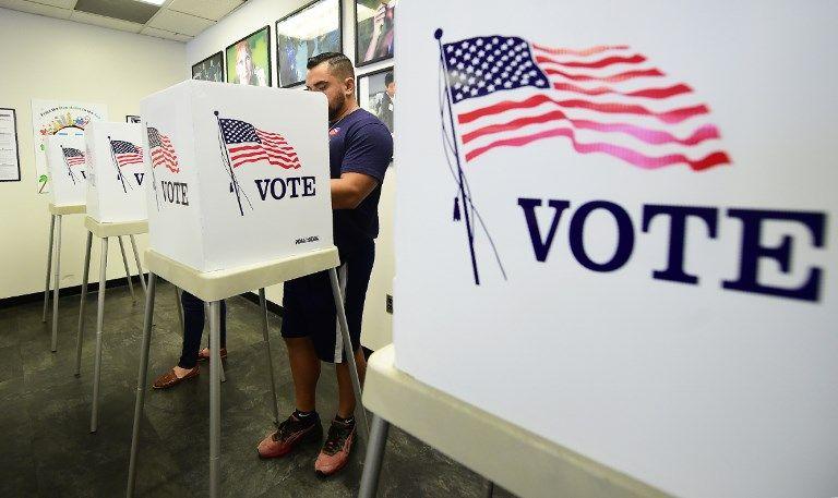 Bureau de vote à Norwalk, Californie