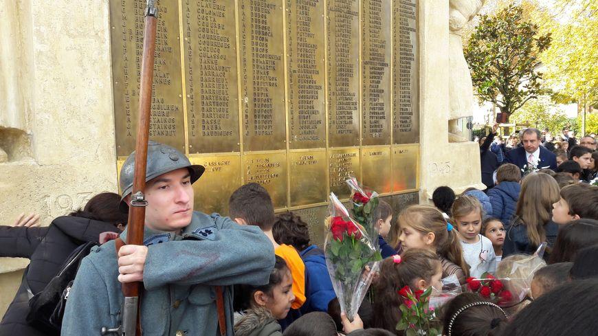 Plus que monde que d'habitude pour cette commémoration du 11 Novembre à Mont-de-Marsan
