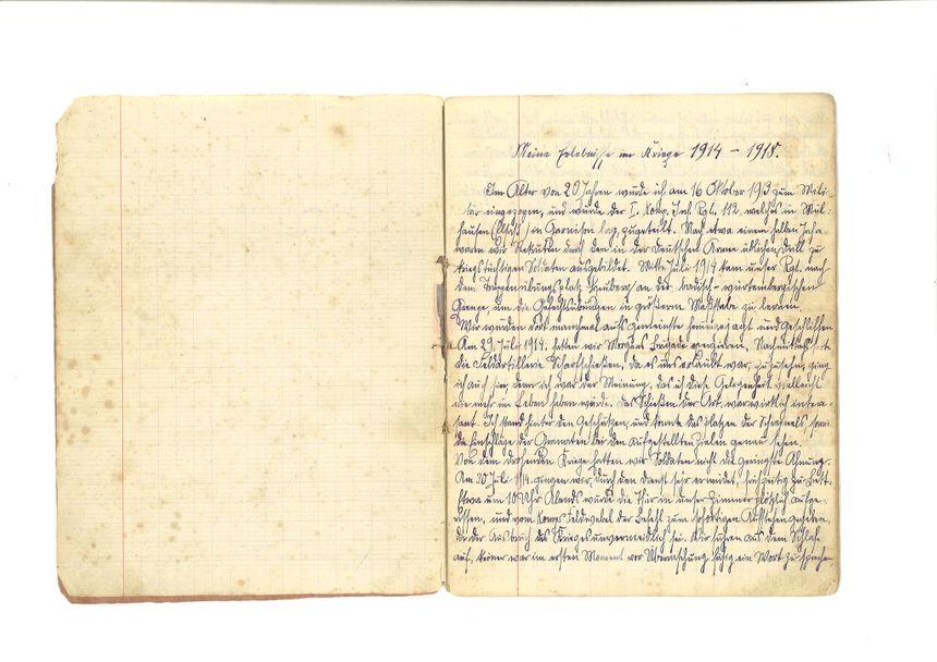 Le soldat alsacien Dominik Richert a rempli 8 cahiers avec son récit de la Grande Guerre.