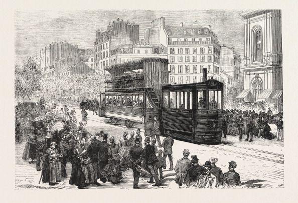Le premier tramway de Paris