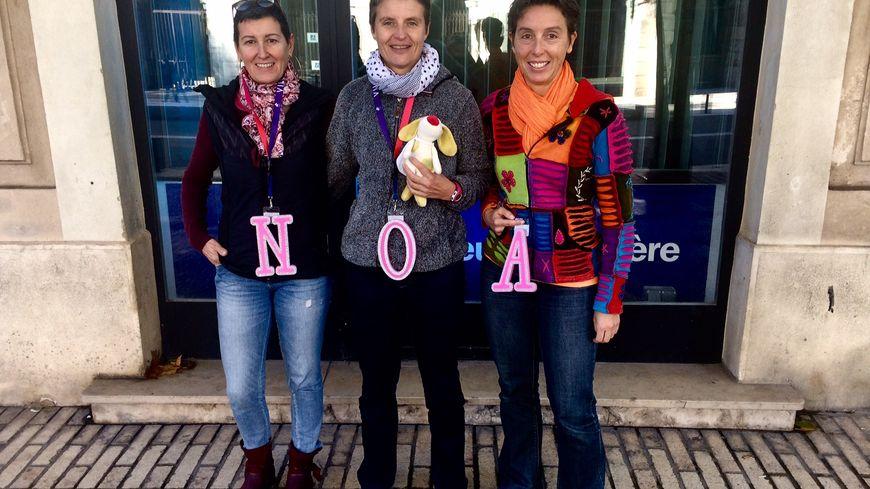 Anne Brette, Anne Bérard et Angélique Villeron ultra motivées à l'idée de partir