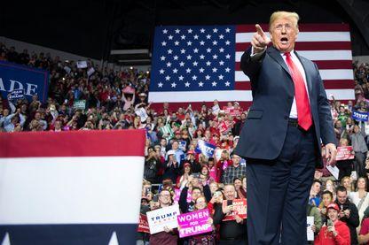 Donald Trump dans l'Indiania, à Fort Wayne, à la veille des élections de mi-mandat