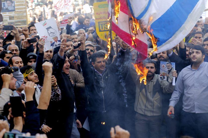 Manifestation hostile aux Etats-Unis à Téhéran le 04 novembre 2018