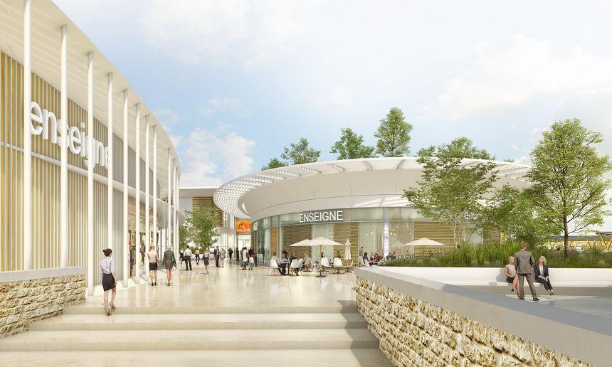 Le projet comprend la construction d'une grande surface commerciale de 27.594 m2