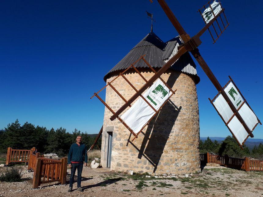 Le moulin de la Borie, qui se situe près de la Parade, un petit hameau de la commune de Hures-la-Parade.