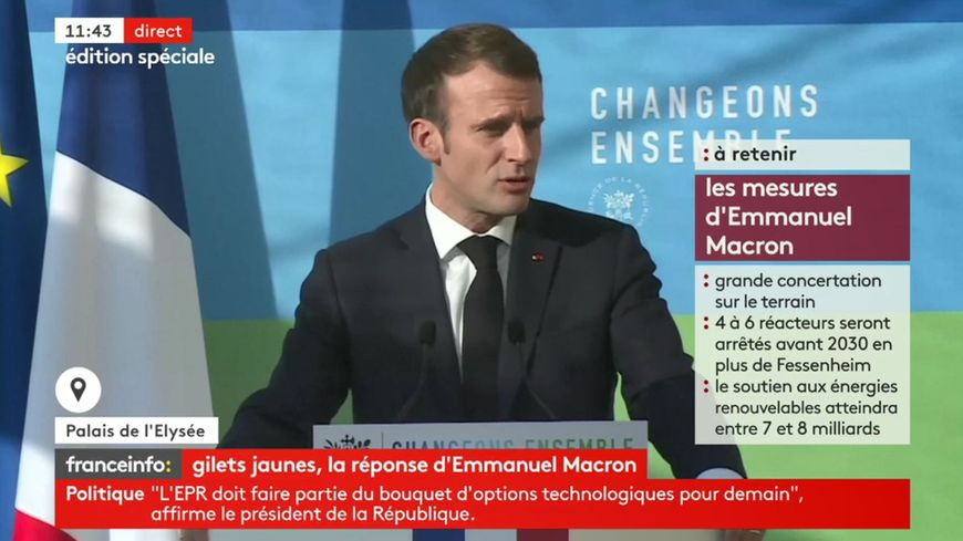 Emmanuel Macron lors de son discours du mardi 27 novembre.