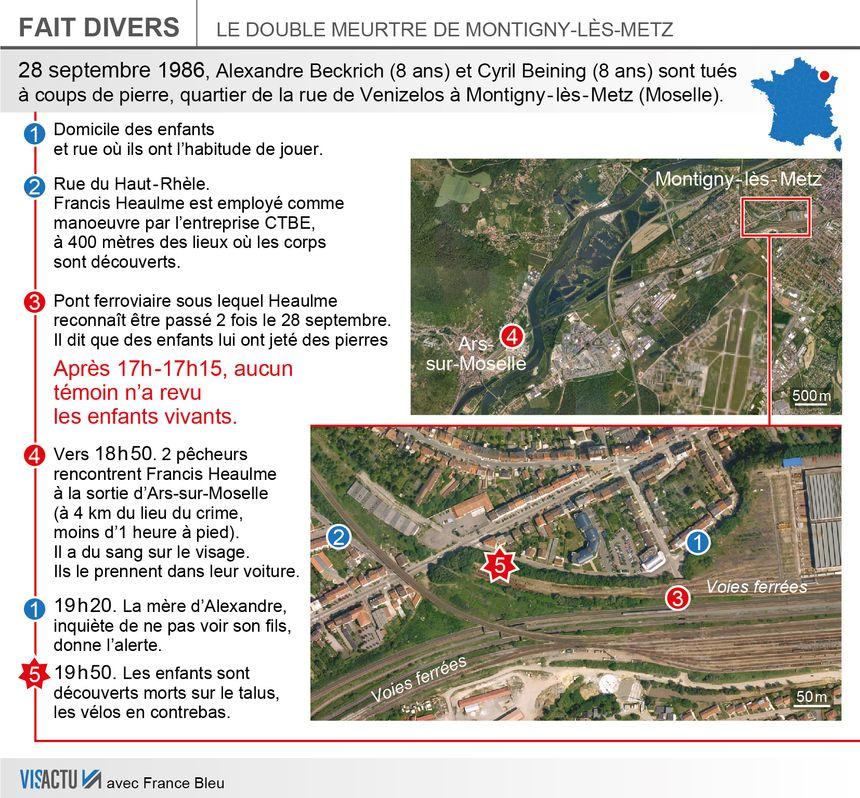 Affaire de Montigny-lès-Metz : les lieux du crime.