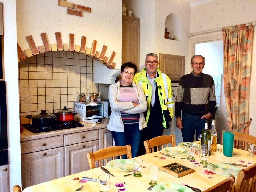 Madame et Monsieur Murat avec Pierre -François Mangeon, directeur territorial d'Enedis Puy-de-Dôme