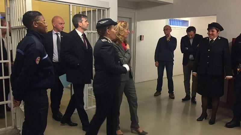 La ministre de la justice a visité le centre pénitentiaire du Havre pendant une heure et demi.