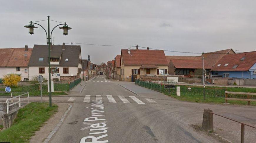 La rue principale à Ergersheim (Bas-Rhin) où s'est produit l'accident.