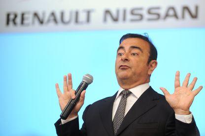 Carlos Ghosn lors d'une conférence de presse en 2013