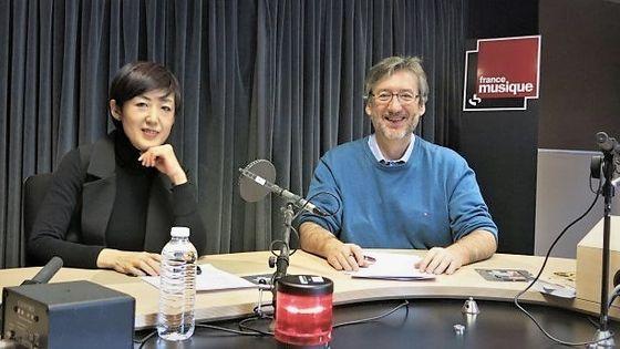 France Musique, studio 131... La compositrice Noriko Baba & Le producteur Arnaud Merlin