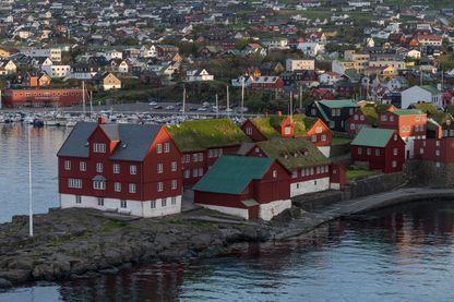 Vue de Torshavn, la capitale des Îles Féroé