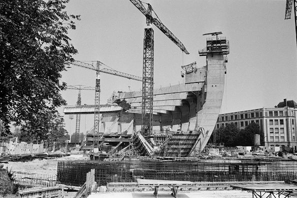 La construction du Parc des Princes