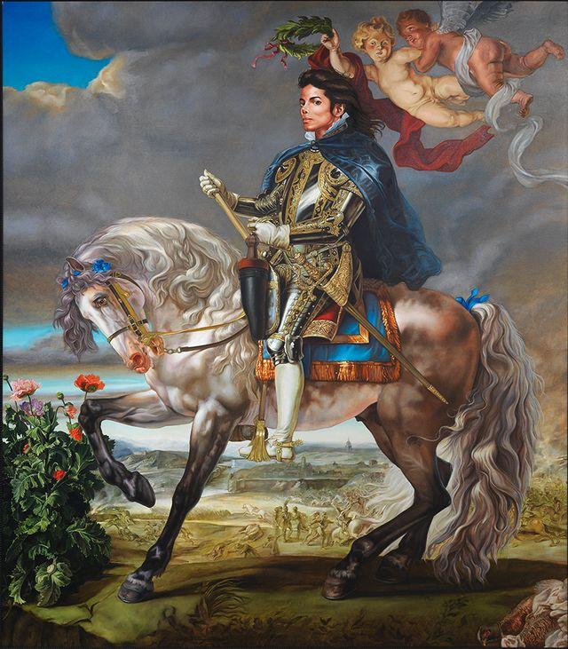 Kehinde Wiley Equestrian Portrait of King Philip II (Michael Jackson), 2010. © Adagp, Paris 2018