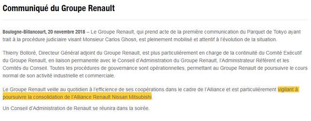 Le communiqué de presse de Renault.