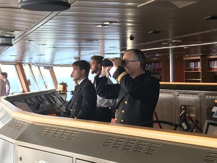 Le commandant Marré, à bord du Pont-Aven.