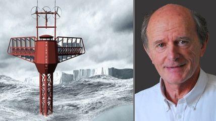 Jean-Louis Etienne et le vaisseau Polar Pod