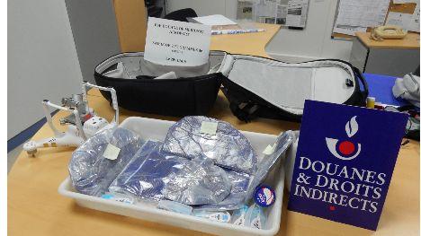L'une des deux saisies de cocaïne effectuées la semaine dernière à l'aéroport de Mérignac