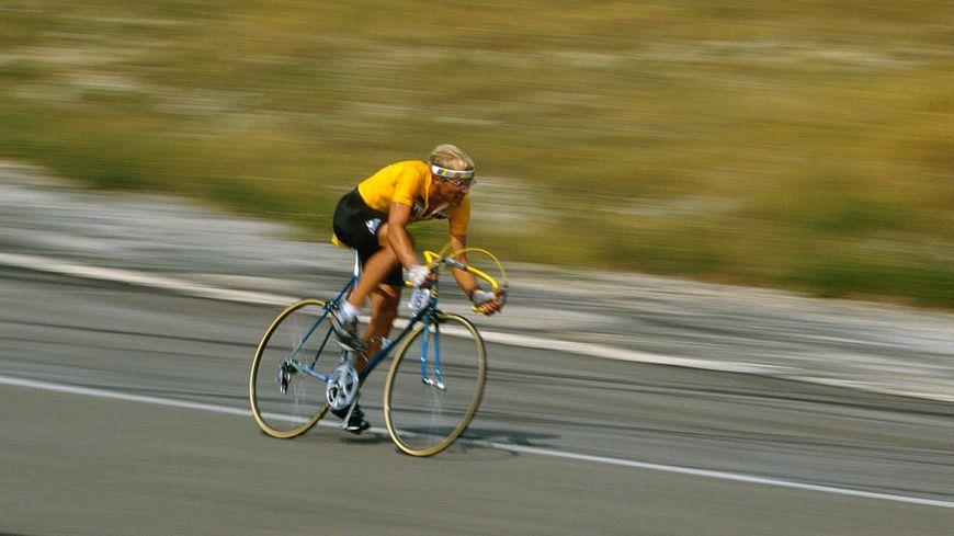 Laurent Fignon, contre-la-montre individuel, lors du Tour de France 1989, 15ème étape à Orcières-Merlette.