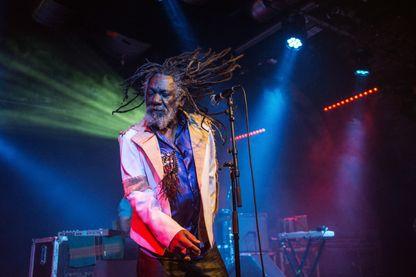 Winston McAnuff, sur la scène du Celtic Connections Festival, à Glasgow (Ecosse, 31 janvier 2014)