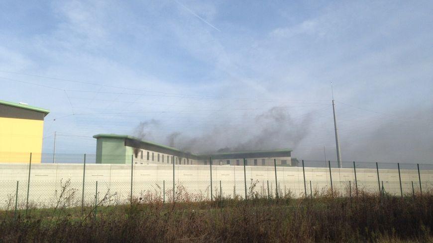 Image d'archive incendie à la maison d'arrêt le 27 Novembre 2016