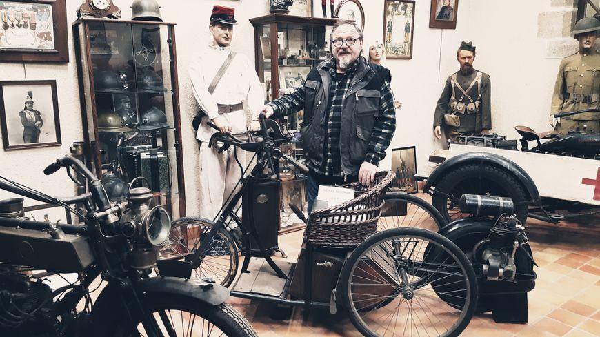 Jean-Luc Gaignard expose à Evron.