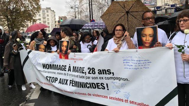 marche blanche à Aubervilliers en hommage à Marie, tuée par son ex-compagnon