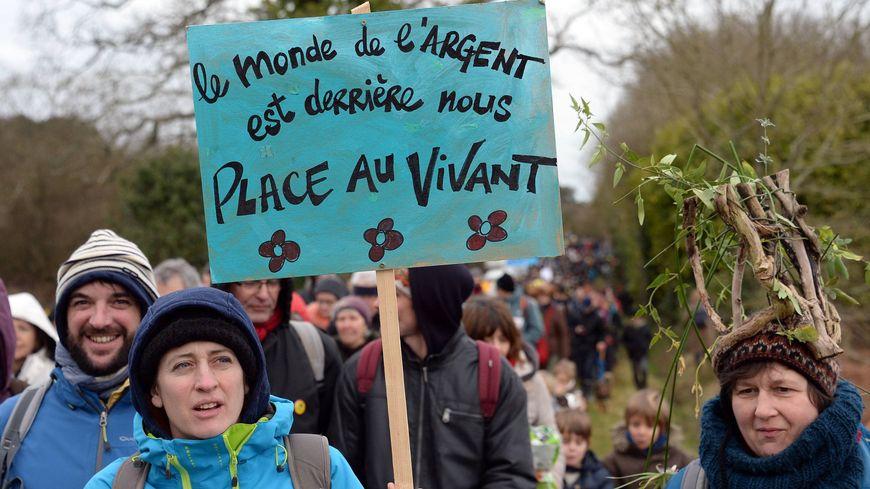 Mobilisation sur la ZAD de Notre-Dame-des-Landes pour fêter l'abandon du projet d'aéroport le 10 février 2018.