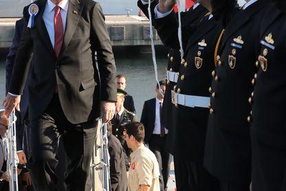 Le président turc Erdogan lors de l'inauguration du navire militaire TCG Burgazada (4 novembre 2018)
