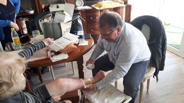 La majorité des patients de François Casadei sont des personnes âgées, beaucoup sont diabétiques
