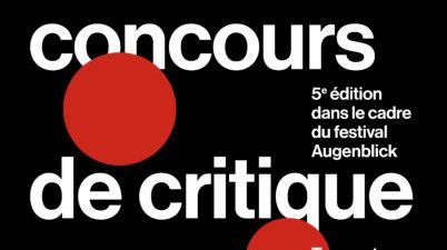 Affiche Concours de critique Festival Augenblick