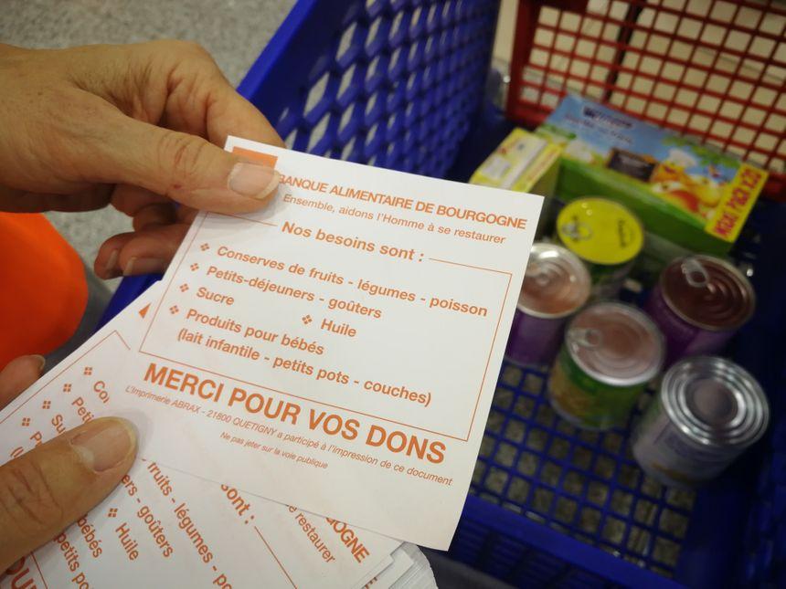Quels sont les produits que vous pouvez donner aux bénévoles?