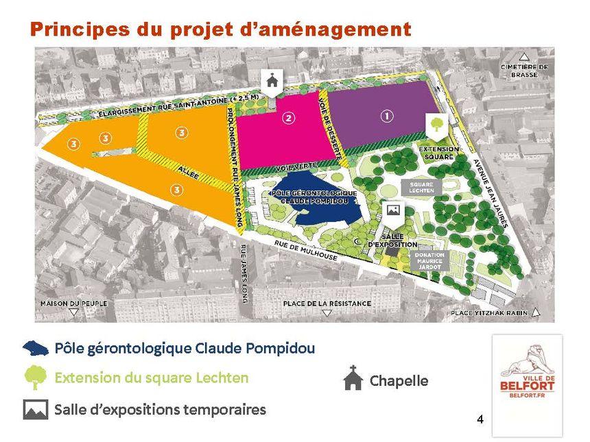 Le futur visage du quartier de l'ancien hôpital de Belfort à l'horizon 2025-2026