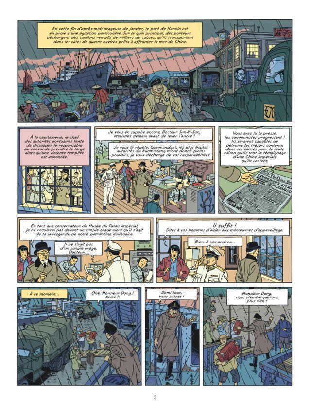 """La vallée des immortels"", page 3 - Tome 25 des Aventures de Blake et Mortimer"
