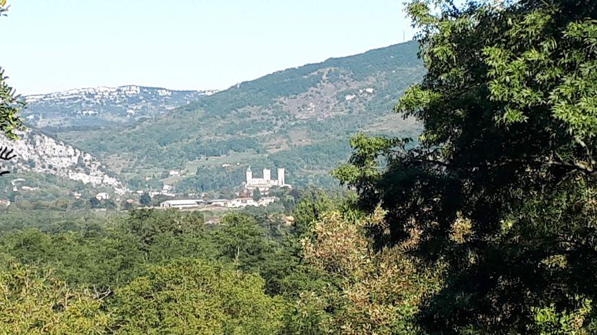 Château de Foix vu de Ganac (09)