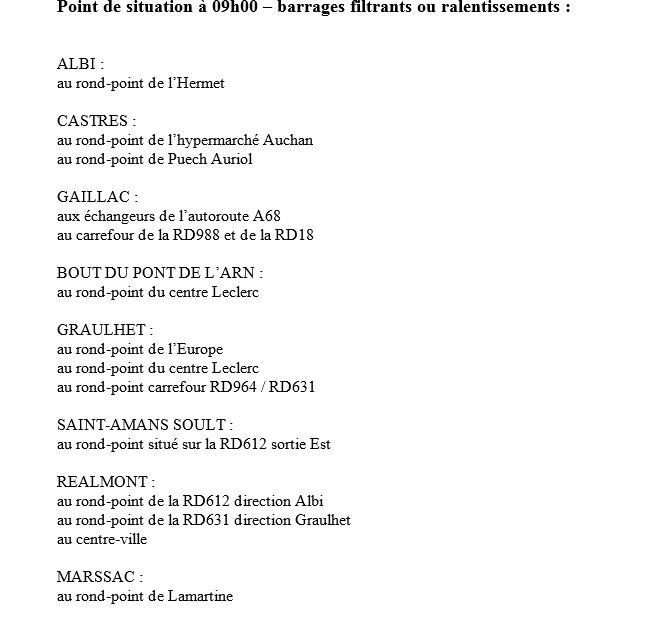 Capture d'écran communiqué de la préfecture du Tarn